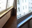 Edelstahl-Verkleidung: Fensterbank