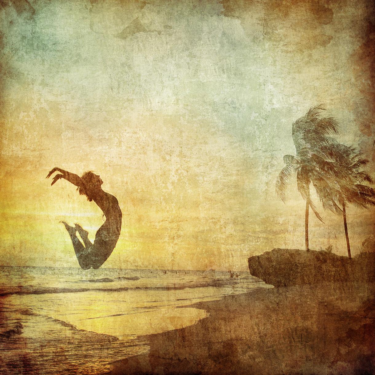 beach-Bilderdruck auf Edelstahl