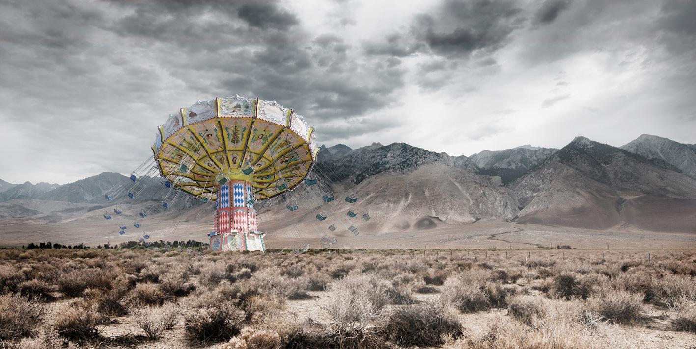 desert-Bild auf Edelstahl gedruckt