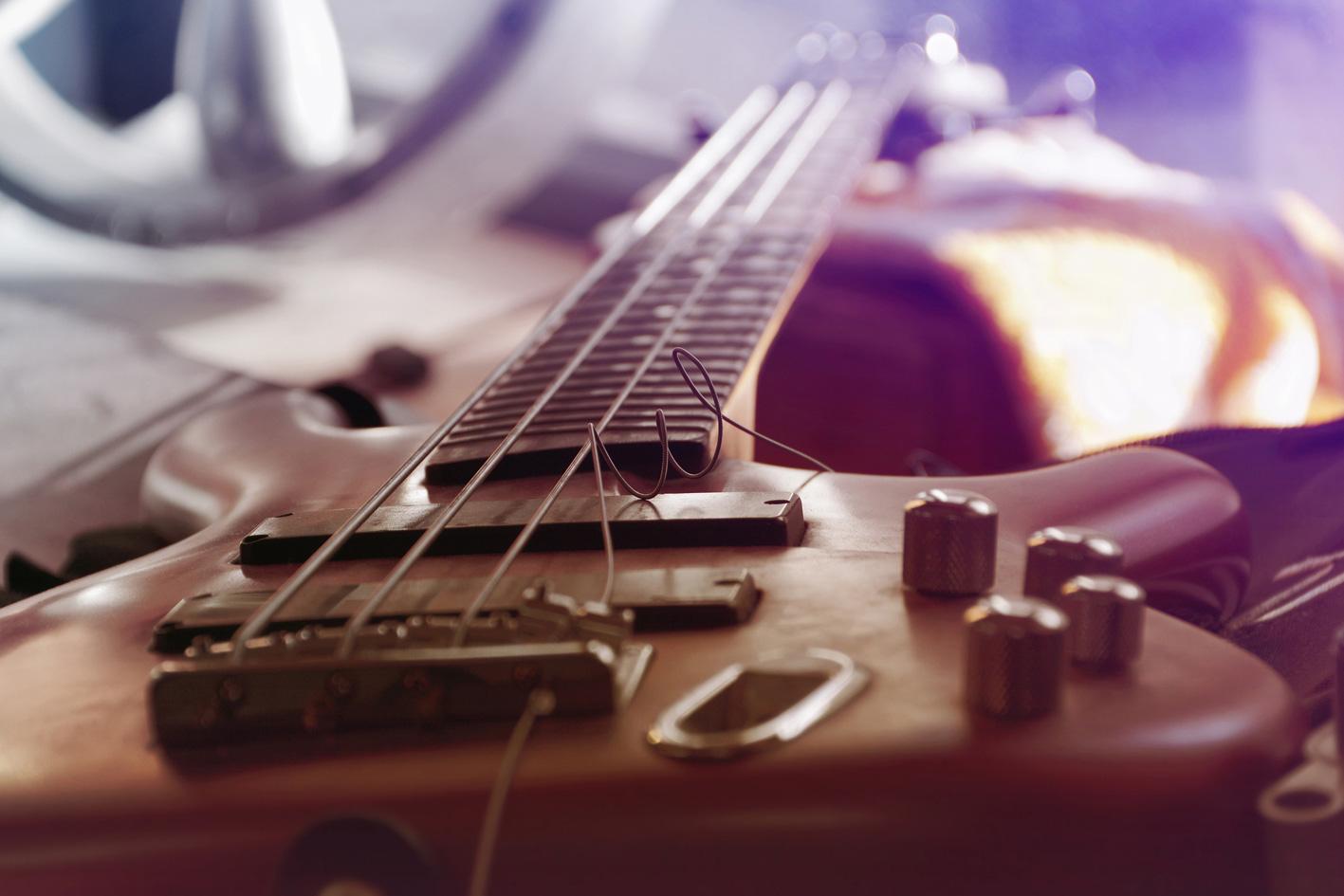e-guitar Edelstahlbild