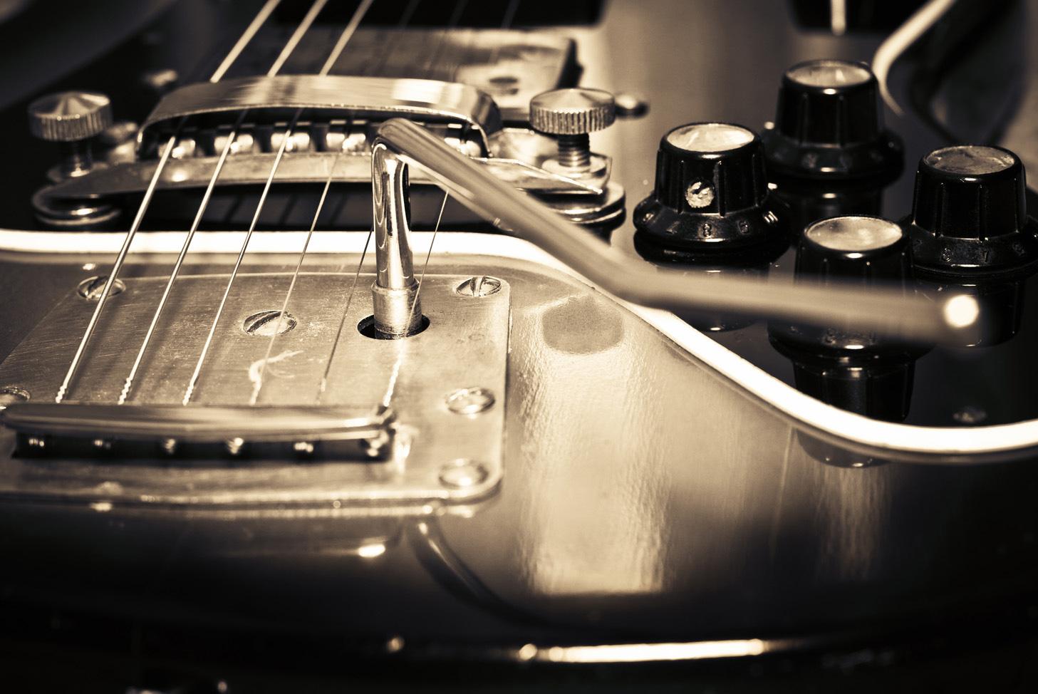 Edelstahlbild guitarre