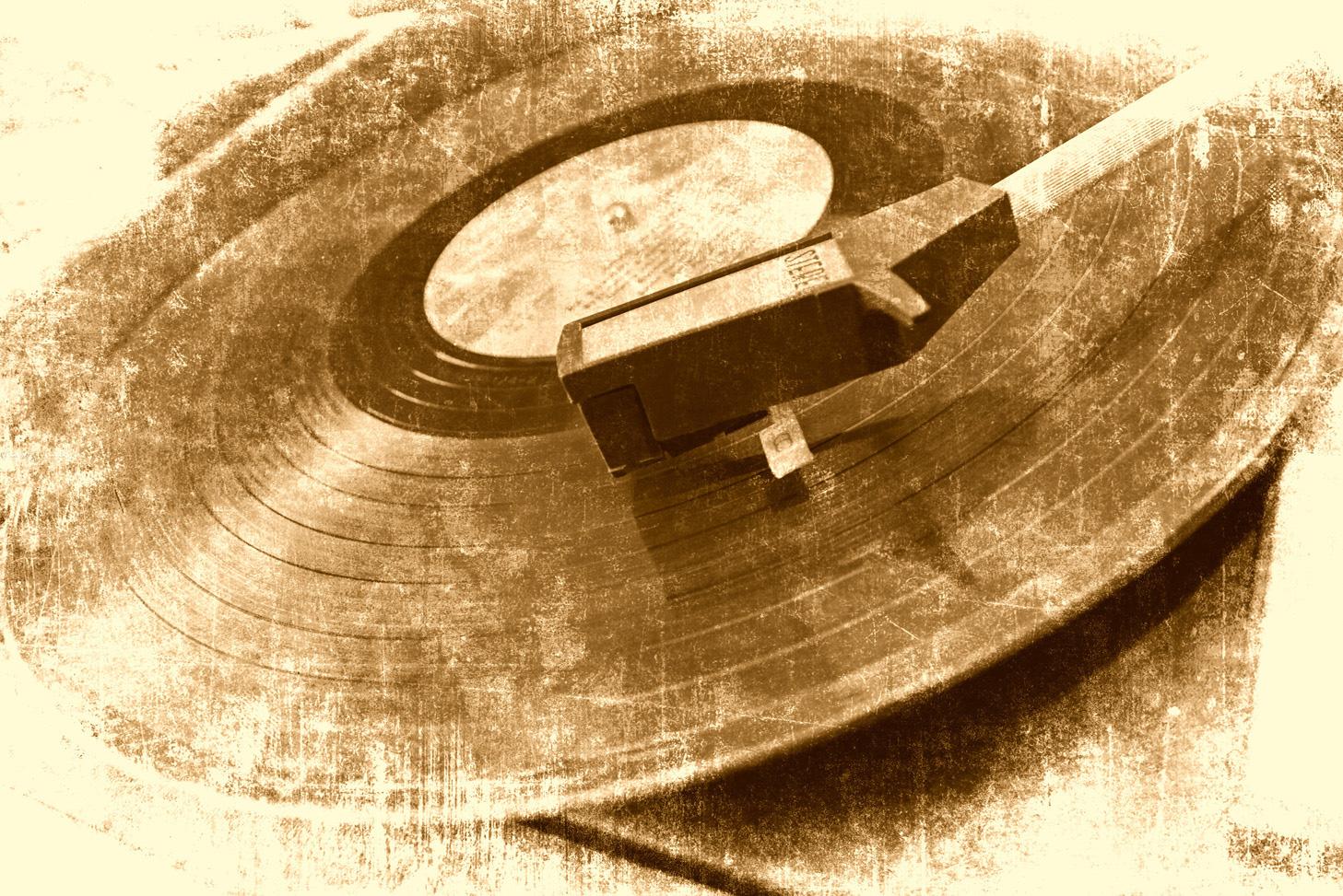 record Bildmotiv auf Edelstahl