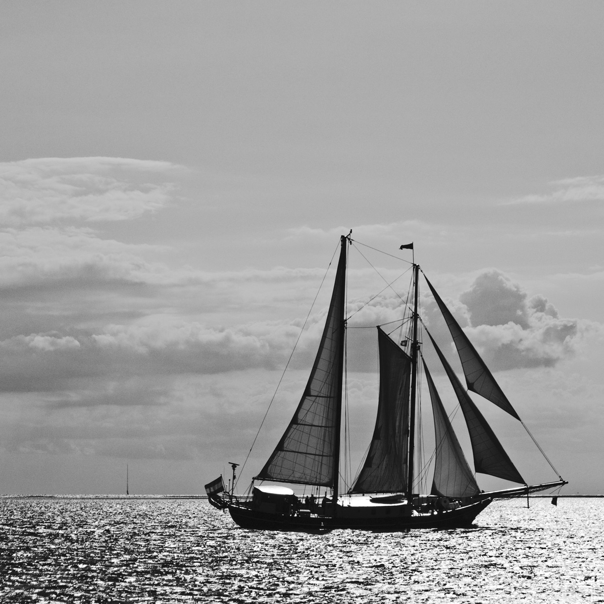 Schiff-Bild auf Edelstahl
