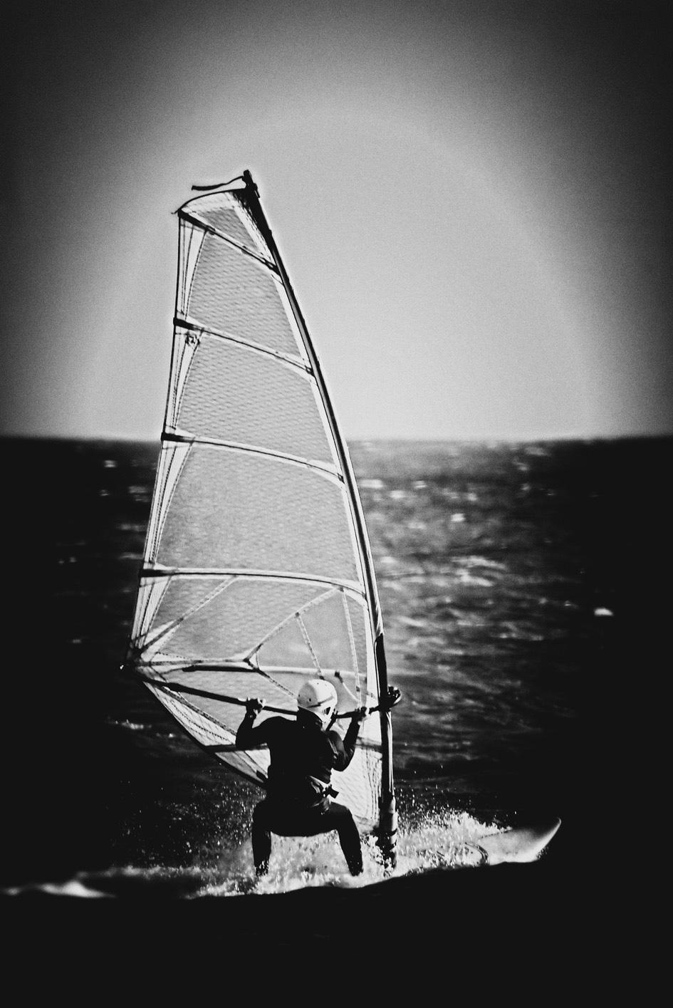 surfer auf Edelstahl