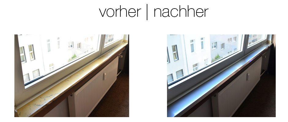 Verkleidung Fensterbank