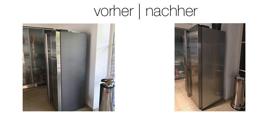 Verkleidung eines Kühlschrankes